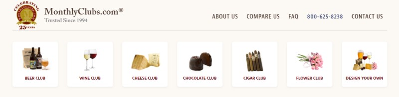 monthly clubs subscription