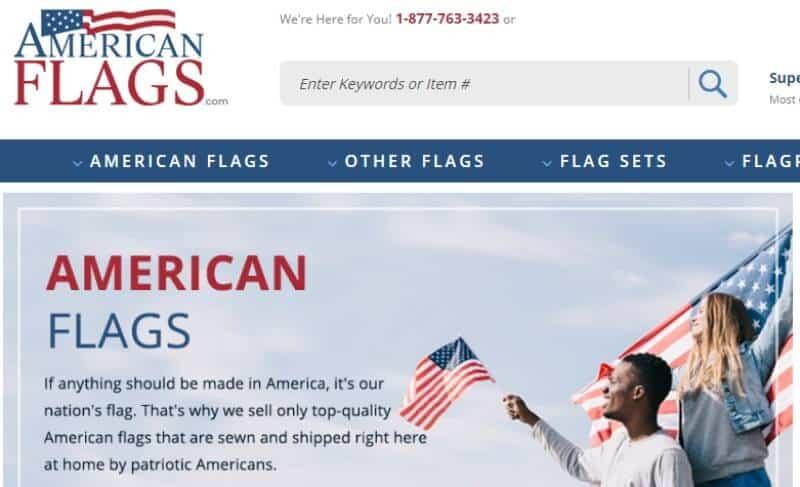 american flags.com screenshot