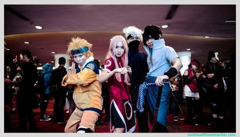 young people dressed as anime characters