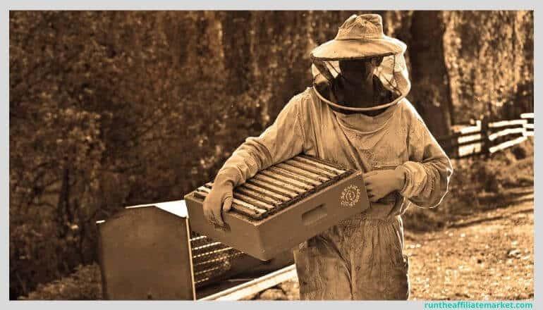 beekeeper walking