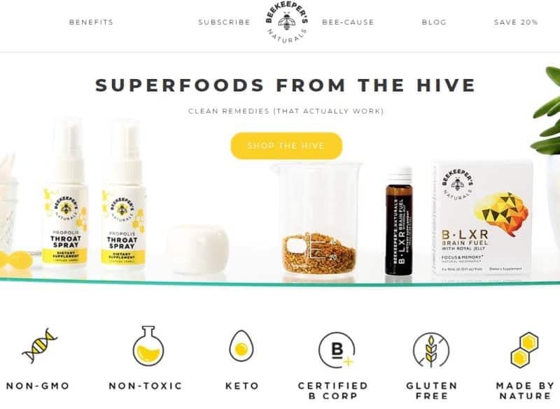 beekeepers naturals screenshot