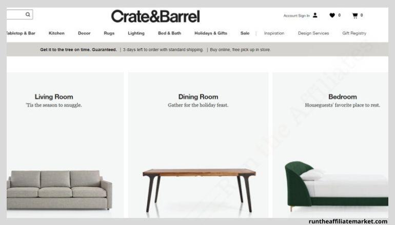 crate & barrel screenshot