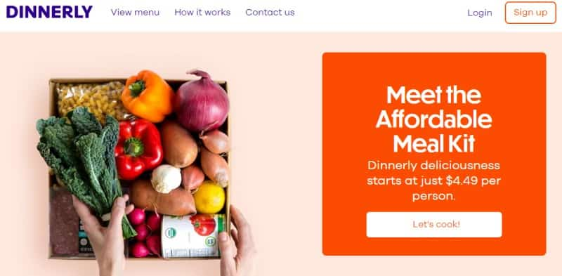 dinnerly affiliate screenshot