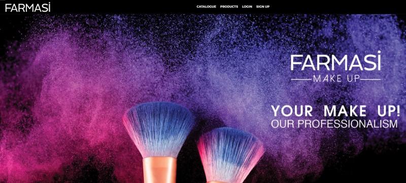 farmasi make-up screenshot for review purposes
