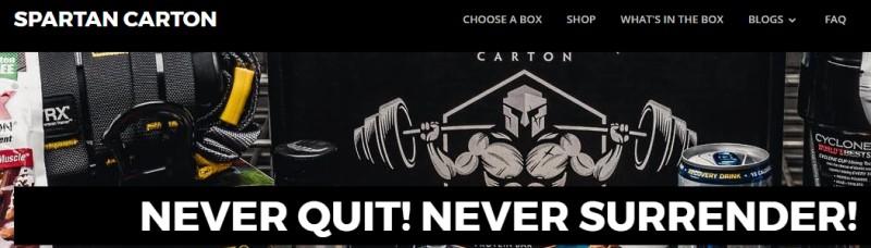 spartan carton screenshot