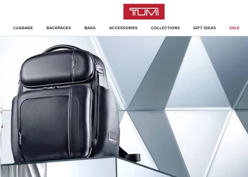 tumi screenshot black suitcase