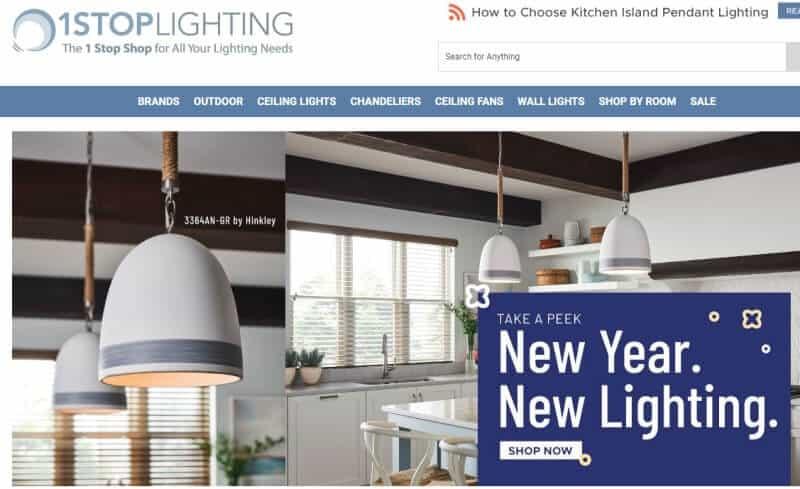 1stop lighting website screenshot