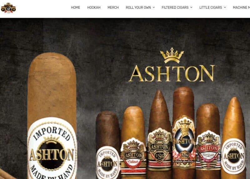 screenshot of the buitrago cigars website
