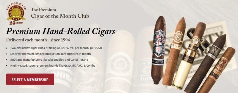 Cigar Of The Month Club website screenshot