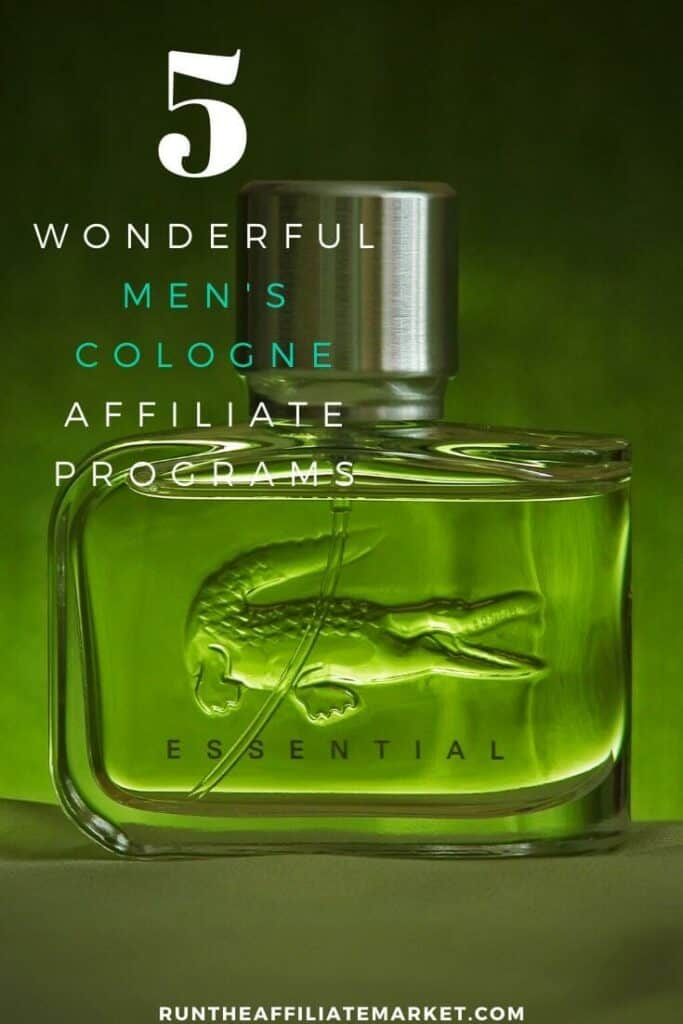 bottle of men's cologne with an alligator on the front of the bottle