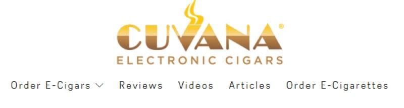 cuvana e-cigars screenshot of their logo from their website