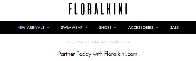floralkini screenshot of website