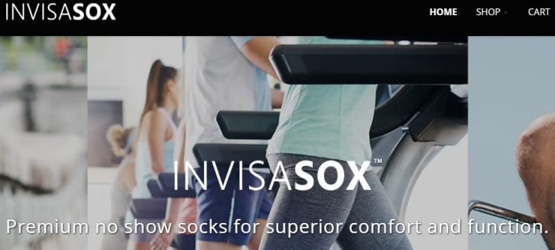invisasox screenshot with a woman walking on treadmill