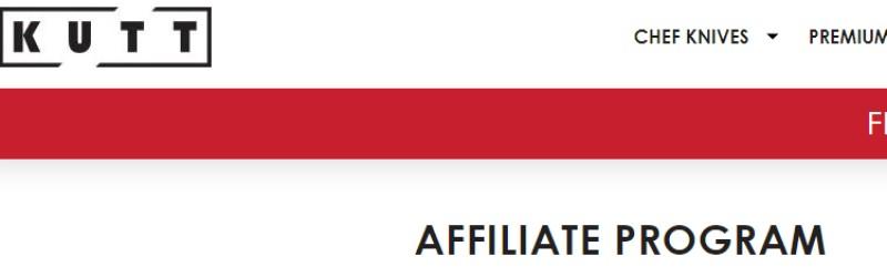 screenshot of the kutt affiliate webpage