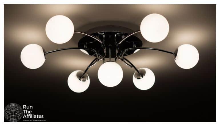 stylish ceiling light with 7 light bulbs