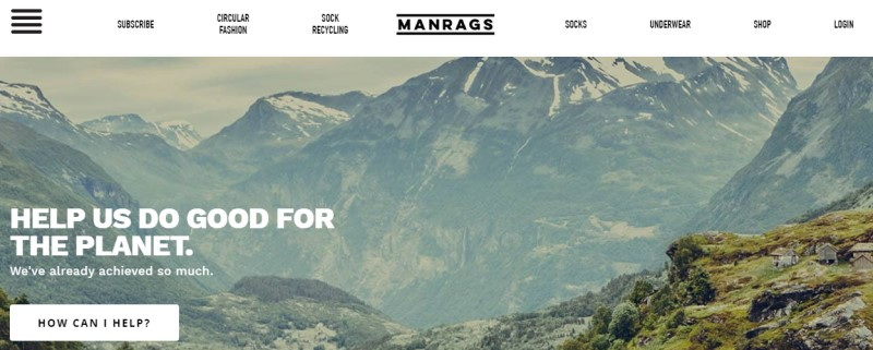 manrags screenshot featuring mountains in the background
