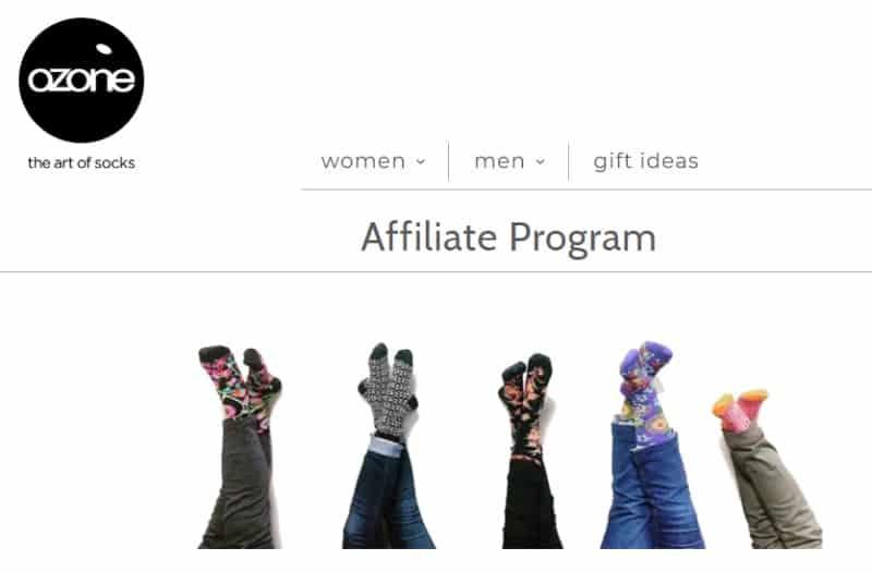 ozone affiliate program website screenshot