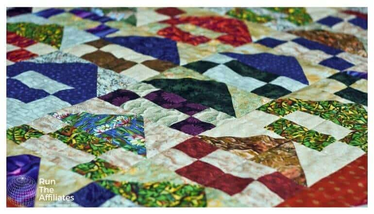 large multi-colored quilt