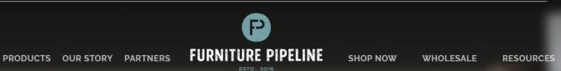 screenshot of the furniture pipeline website