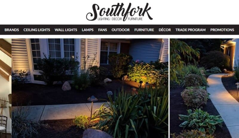 southfork lighting screenshot with lighted walkways