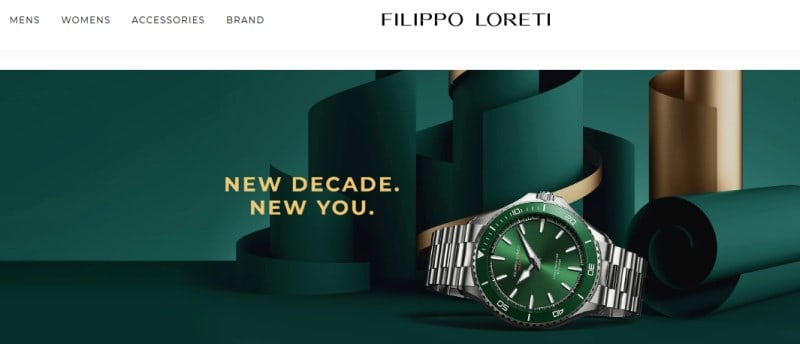 filippo loreti website screenshot