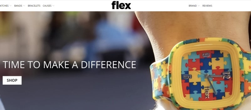 flex watches website screenshot