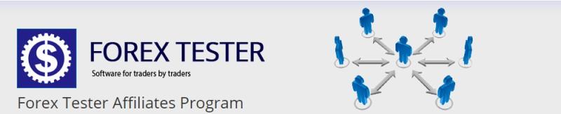 screenshot of the forex tester affiliate website