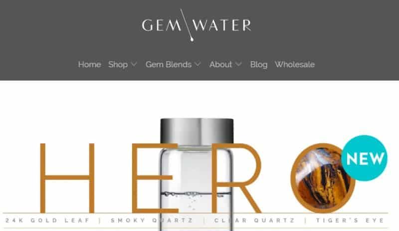 screenshot of the gem-water website