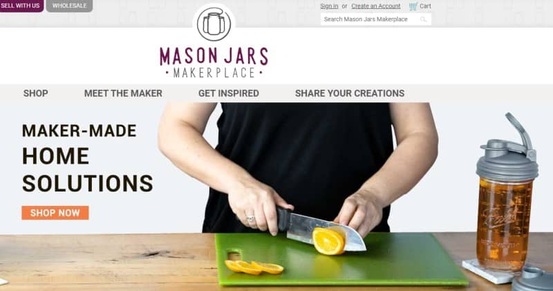 mason jars makerplace screenshot