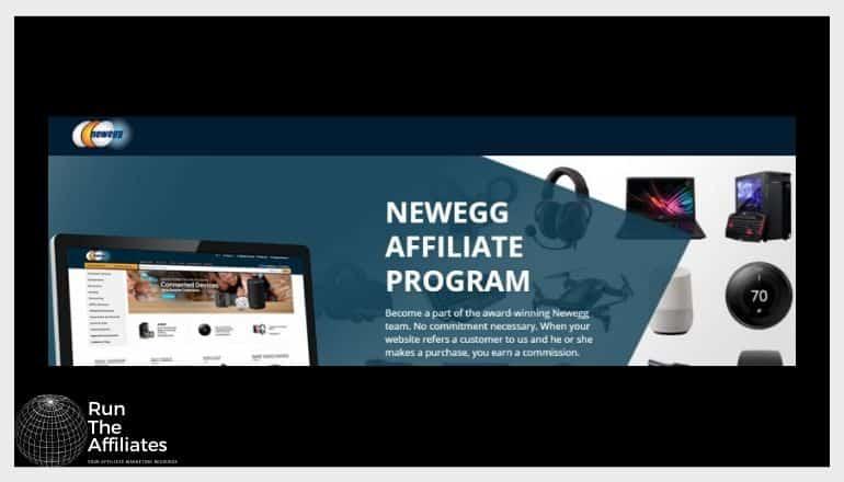 screenshot of newegg website with a black background
