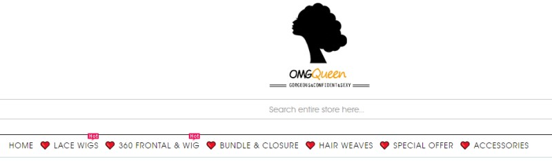 screenshot of omgqueen website