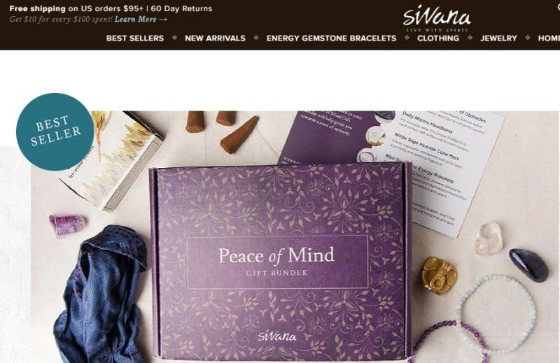 screenshot of the sivara website