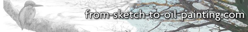screenshot of the from sketch to oil webpage