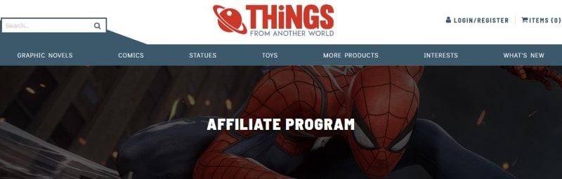screenshot of the TFAW website
