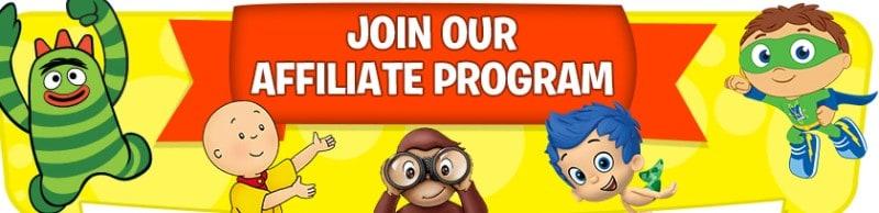 tv's toybox screenshot of their affiliate program webpage