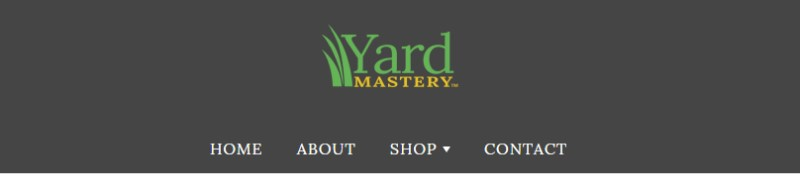 screenshot of the lawn mastery website