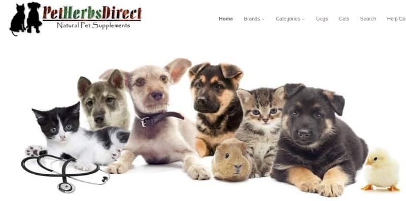 Pet Herbs Direct website screenshot