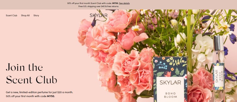 skylar affiliate program screenshot