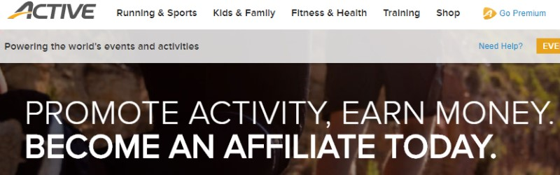 screenshot of active.com website