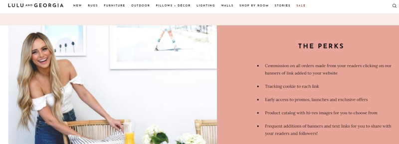 screenshot of the lulu and georgia website