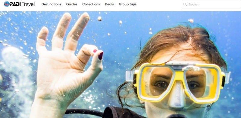 padi travel screenshot