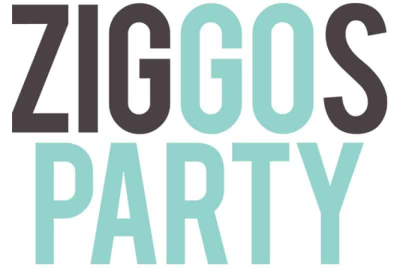 screenshot of the ziggos party website