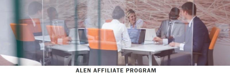screenshot of the alen air affiliate program webpage