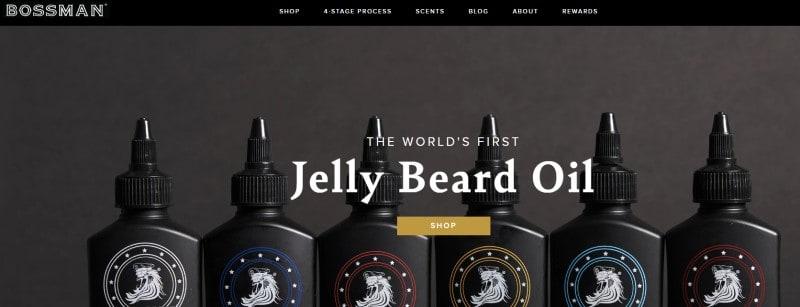 screenshot of the bossman brands website