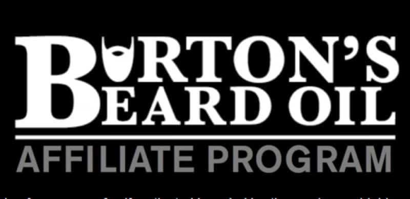 screenshot of the burton beard oil affiliate webpage
