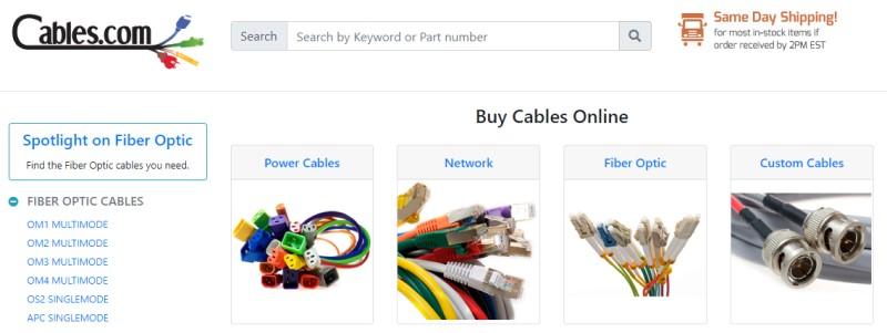 cables.com screenshot