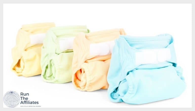 multiple colors of cloth diapers against a white background