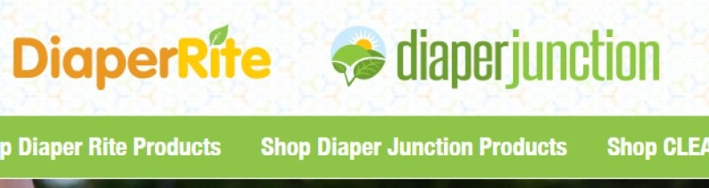 screenshot of the diaper junction website