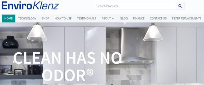 screenshot of the enviroknlenz website
