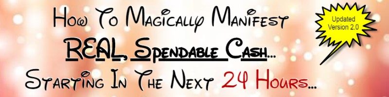 screenshot of the manifestation magic website
